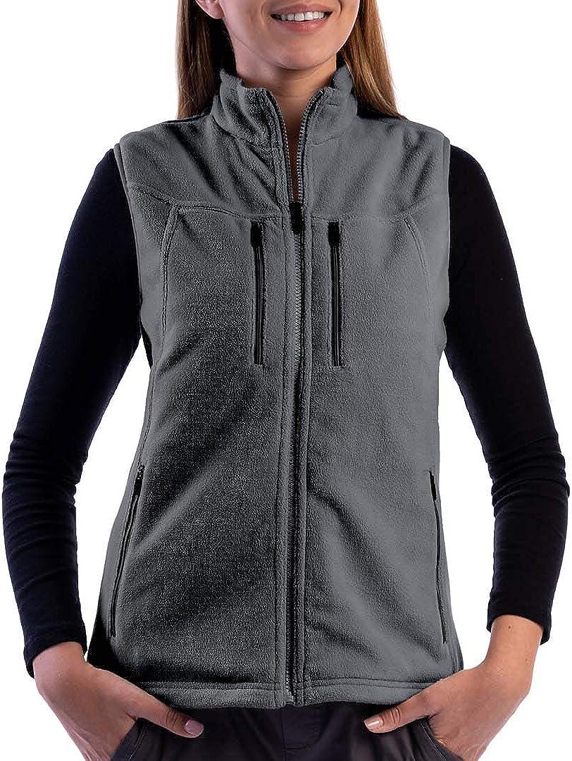 SCOTTeVEST Women's Fireside Fleece Travel Vest   15 Pockets   Anti-Pickpocket