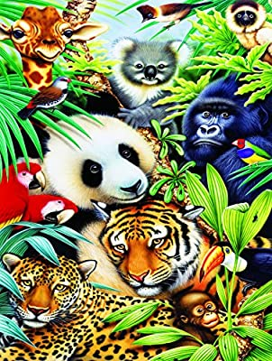 Jigsaw Puzzle - Fun & Easy: Animal Magic - 300 Unique Large Pieces - Made in The USA by Color Craft Puzzles - Challenge Any Puzzle Lover