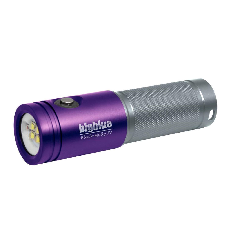 BigBlue AL1800XWP-II 1800 Lumen Tri-Color Dive Video Light (Purple/Silver)