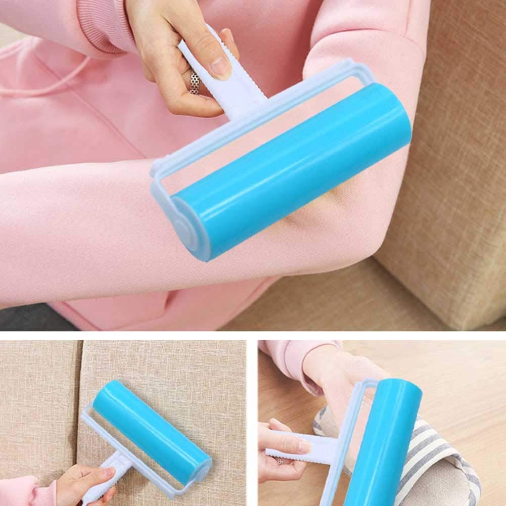 Blue multifunctional large-scale hair remover with cover clothes and dust removal roller sticky hair remover Bartholom Washable sticky hair roller