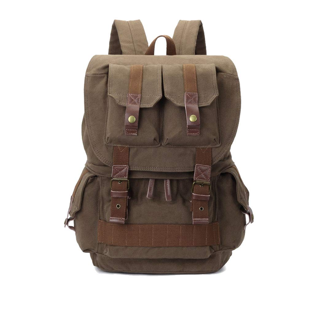 Amazon.com: Yimidear Canvas DSLR SLR Camera Backpack Hiking Travel Bag Rucksack with Shockproof Insert Case & Rainproof Cover (Army Green): Sports & ...