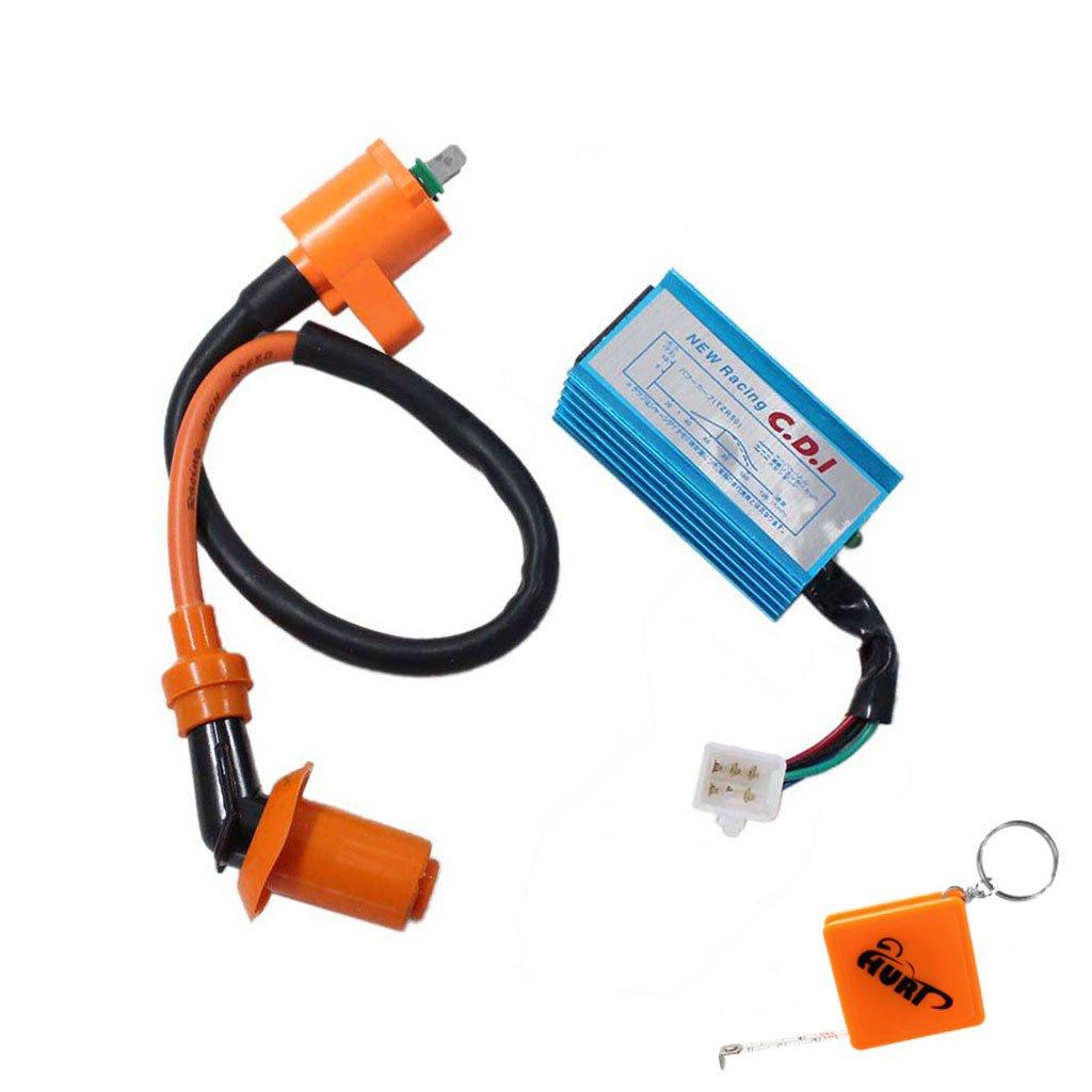 HURI Ignition Coil with CDI for Honda Elite 80 CH80 Spree 50 NQ50 NQ50I NC50