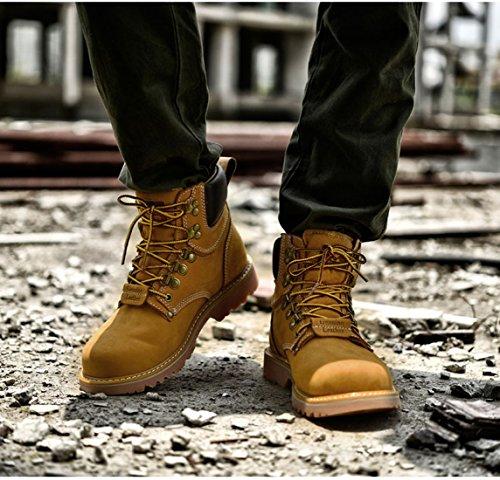 Boot Stivali Z Pelle Giallo SUO Originale Lace Lavoro da Desert in Uomo qzZ48pwq