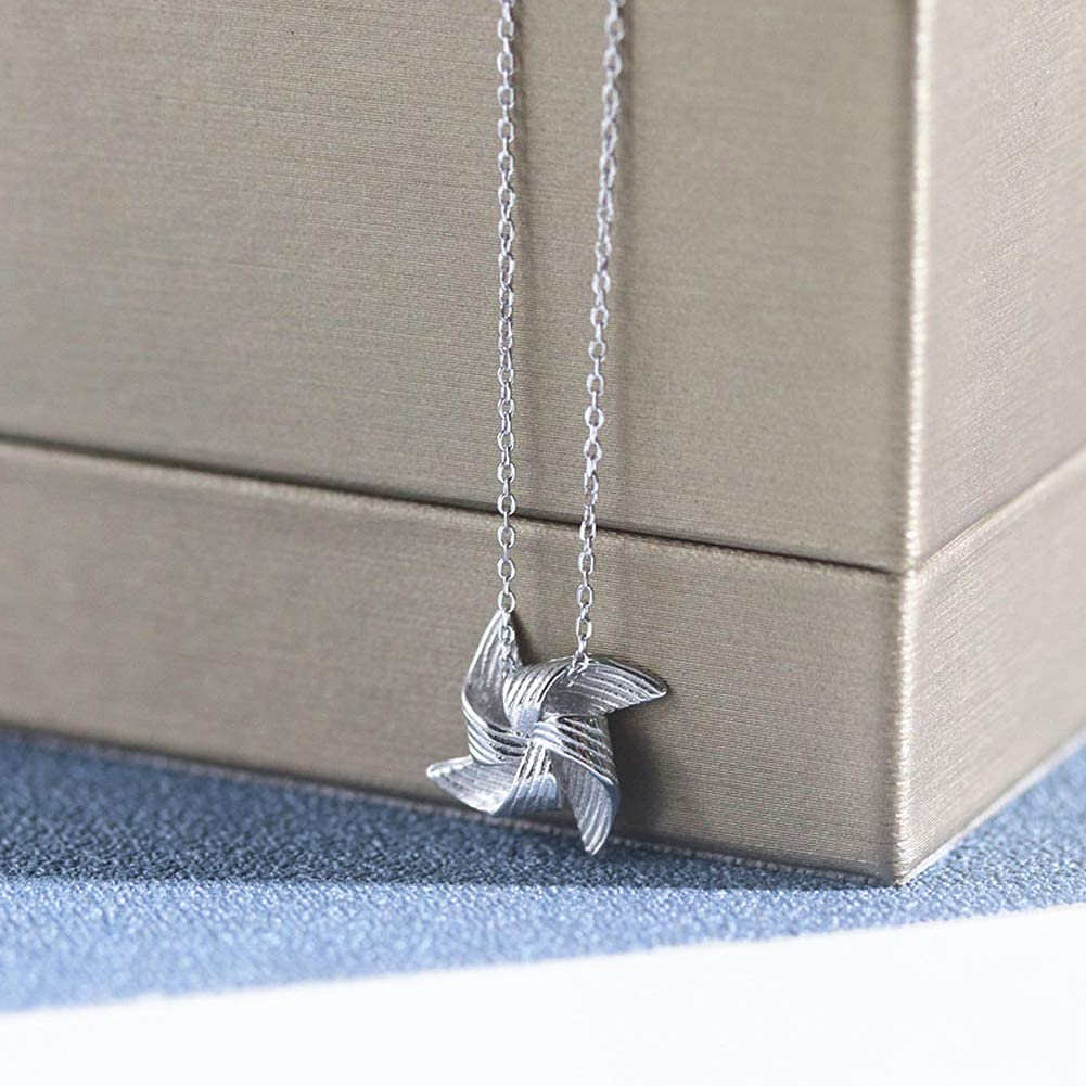 Funny 76th Birthday Gifts for Women 76 Year Old Birthday Gifts for Women 925 Sterling Silver Womens Windmill Necklace 76th Birthday Gifts for Women