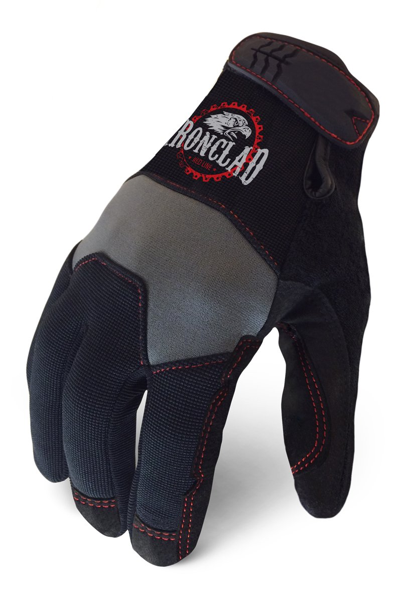 Medium Grey//Black Ironclad YRL-WHG-03-M RedLine workhorse Grey Gloves