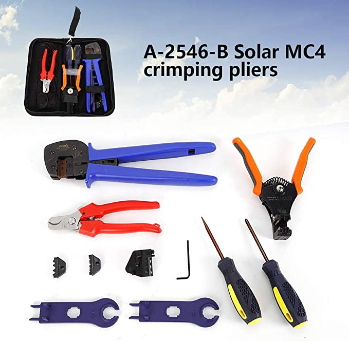 crimpador Solar PV MC4 Cable Fotovoltaico Alicates de Crimpar SOLAR CRIMP PLIERS