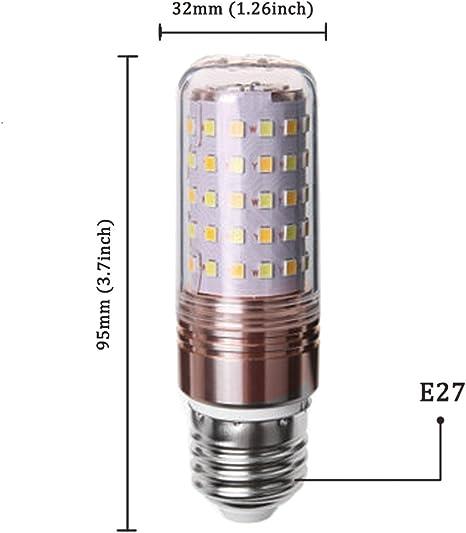 Bombilla LED E27 / 12W equivalente a 80 W / 823lm Blanco cálido 3000K- 6 unidades: Amazon.es: Iluminación
