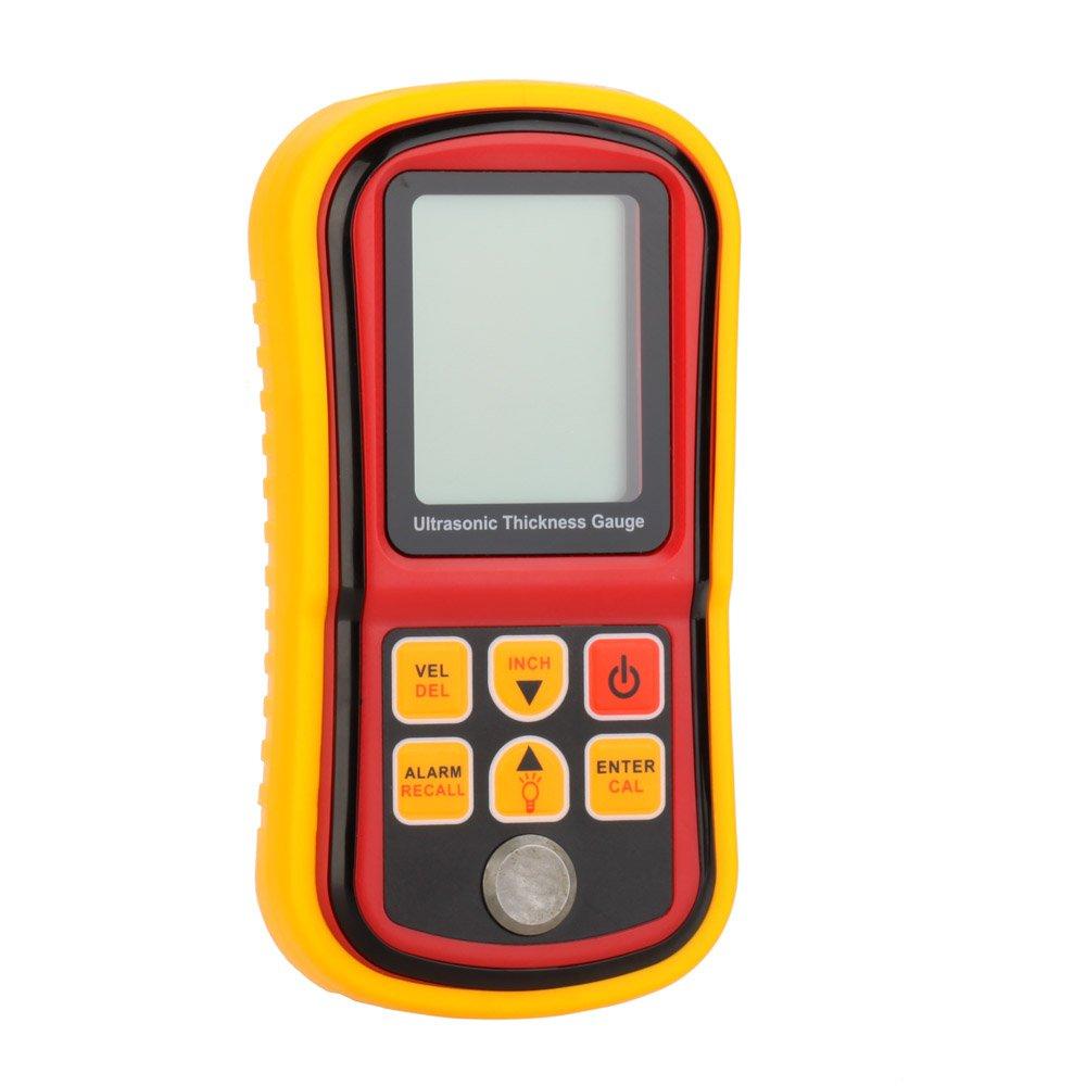 KKmoon GM130 Medidor de profundidad calibrador de espesor por ultrasonido Digital + medidor de velocidad del sonido con pantalla LCD contraluz gama 1.00~300 ...