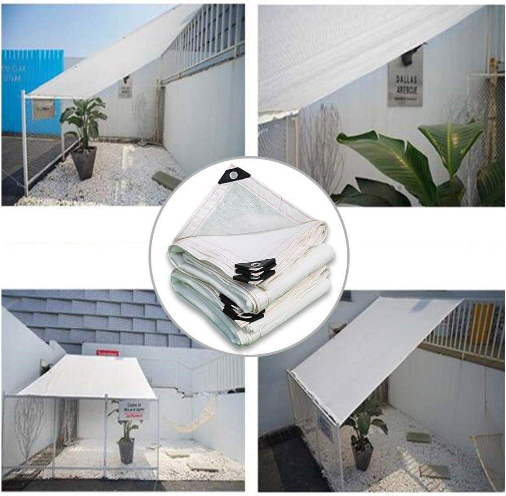 Parasol de malla para exteriores, color blanco, para plantas, parasoles, parasoles, cobertor de red de 98 % de protección UV, cubierta de lona para jardín, flores, plantas, pérgolas, toldo, protección de plantas,