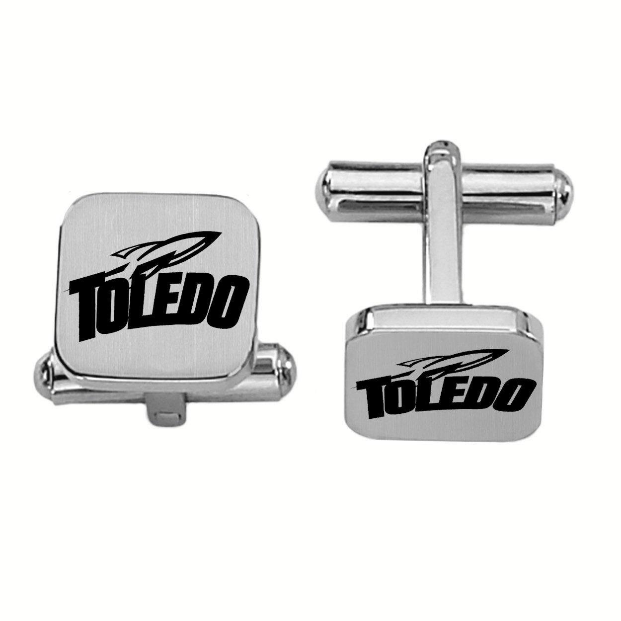 Toledo RocketsステンレススチールSquare Cufflinks   B00MEL9VXU