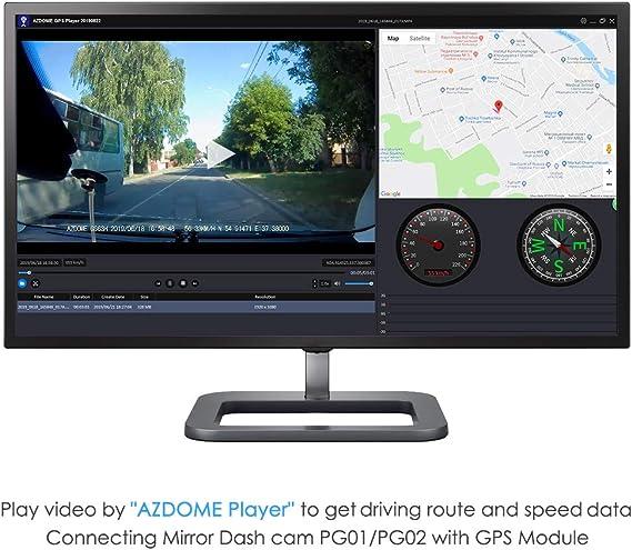 C/ámara de visi/ón Trasera Impermeable AZDOME 1080P para c/ámara de Tablero de Espejo AZDOME PG02 con Lente Gran Angular de 150 /° C/ámara de visi/ón Trasera Impermeable HD IP67 con Puerto AV-IN