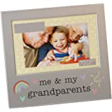 """""""Me & My Grandparents"""" Brushed Silver 6"""" x 4"""" Picture Frame By Haysom Interiors"""