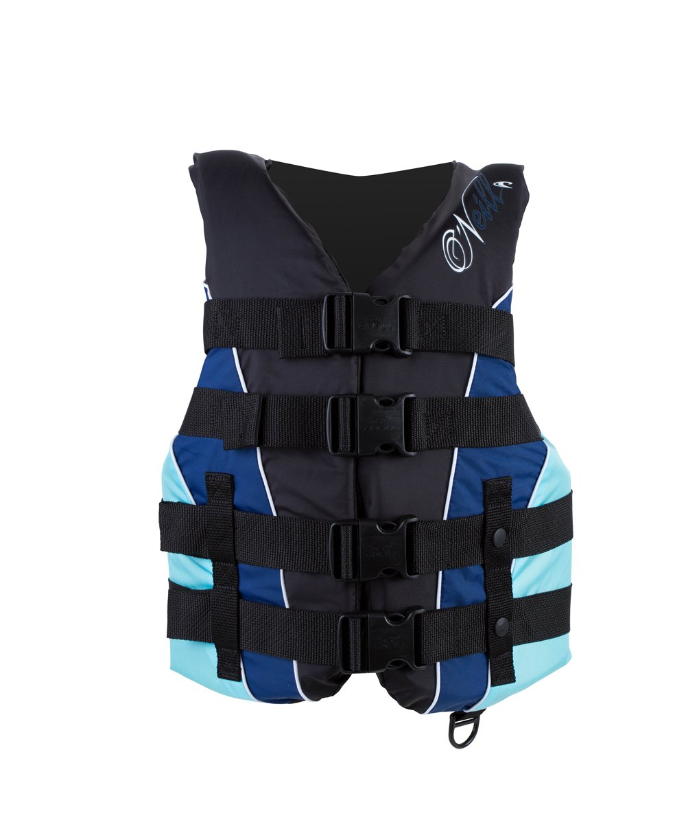 O'Neill Wetsuits Women's Superlite USCGA Vest  (Black/Navy/Turquoise, Large) by O'Neill Wetsuits