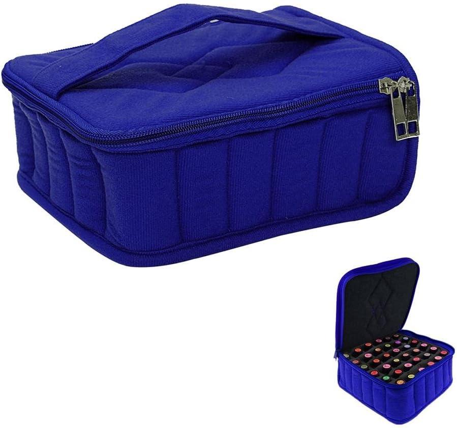 Bleu Sac de Stockage et Sac de Rangement Portable avec 30 Compartiments pour Bouteilles dHuile Essentielle niceEshop TM