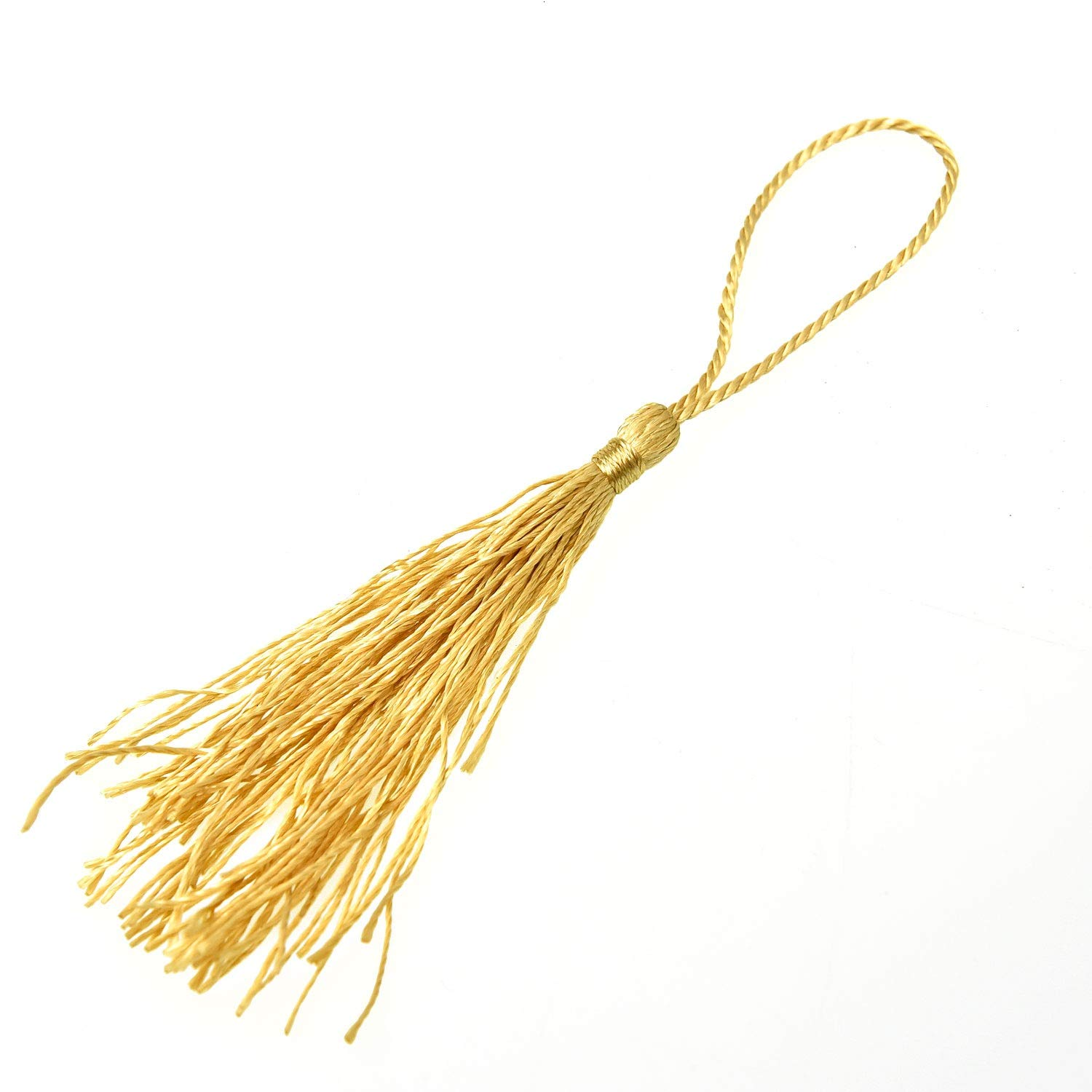 Souvenir Bookmarks DIY Craft Accessory Monrocco 200pcs Silky Handmade Soft Craft Mini Tassels with Loops for Jewelry Making
