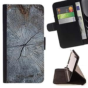 - Gray Cracked Distressed Wood Imitation - Estilo PU billetera de cuero del soporte del tir???¡¯????n [solapa de cierre] Cubierta- For Samsung Galaxy S5 Mini, SM-G800 £¨ Devil Case £©