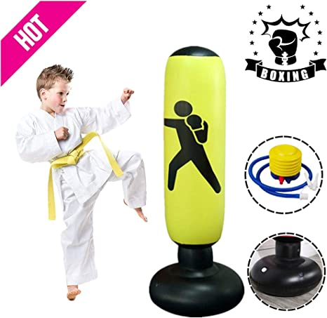 Free Standing Punch Bag Punch Bag Freestanding Boxing Punching Bag Thickened Fitness Exercise Pressure Reducing Heavy Bag For Children Adults