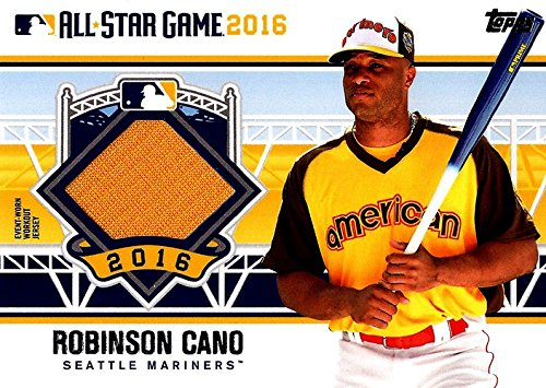 Signed Cano, Robinson (Seattle Mariners) Robinson Cano 2016 MLB All-Star Game Unsigned Baseball Jersey Insert Card. autographed