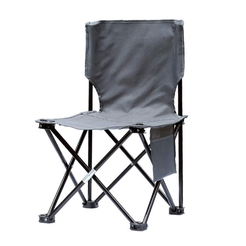 キャンプ用折りたたみ椅子 - ポータブルアウトドアスポーツフィッシング三脚チェア - キャリーバッグ付き - クーラーバッグとバックレスト付き 旅行/ピクニック/ハイキング用 - 286ポンド グレー  グレー B07NY1FH9D