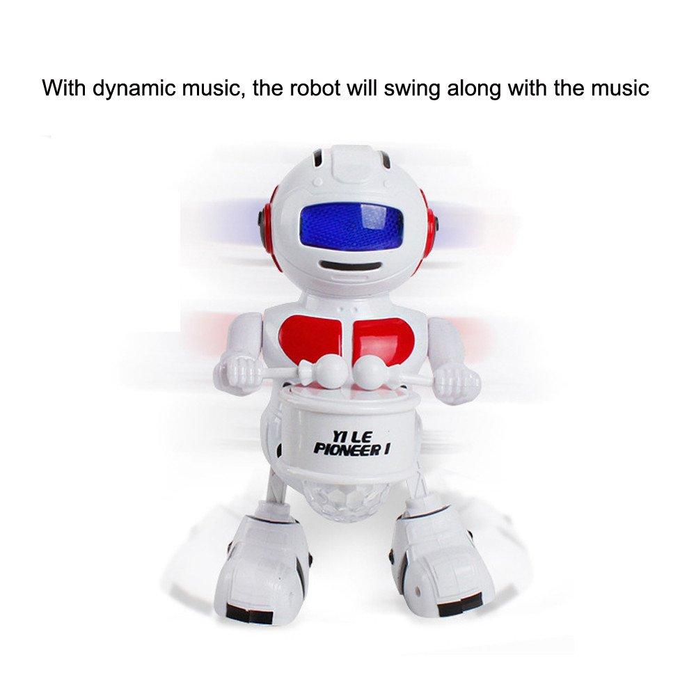 Oasics Robot teledirigido para niños Robot programable de 2,4 GHz con función de Danza y Disparo, para niños y niñas