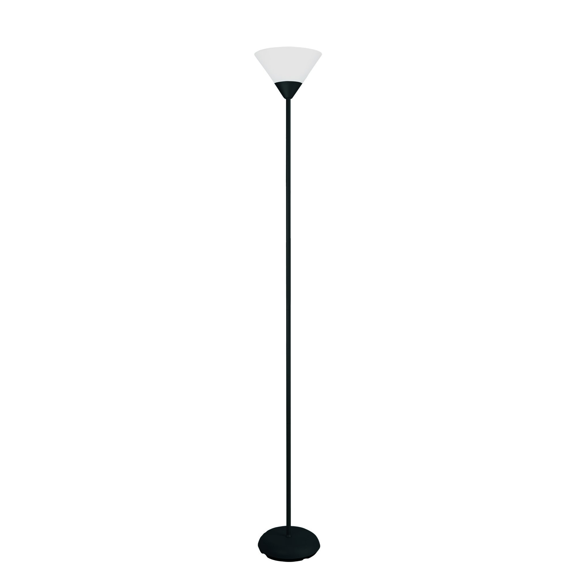 Simple Designs LF1011-BLK 1 Light Stick Torchiere Floor Lamp, Black