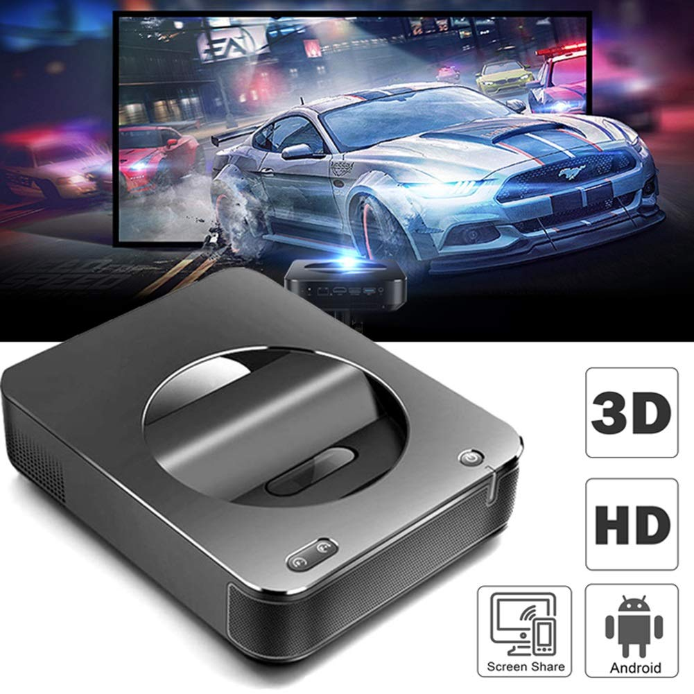 JLCN Mini proyector Portable de Bluetooth proyectores 4K eléctrico ...