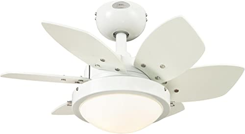 Westinghouse Lighting 7247100 Quince Two-Light Reversible Six-Blade Indoor Ceiling Fan