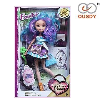 Ousdy ® Muñeca Princesa articulada Fashion Bella 27cm (Precesa, Azul)