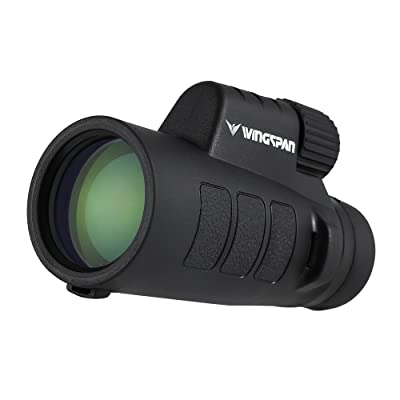 Wingspan Optics ProSpotter 10X42 Compact Monocular Scope. New Advanced PrismView Optics Creates Spectacularly Crisp