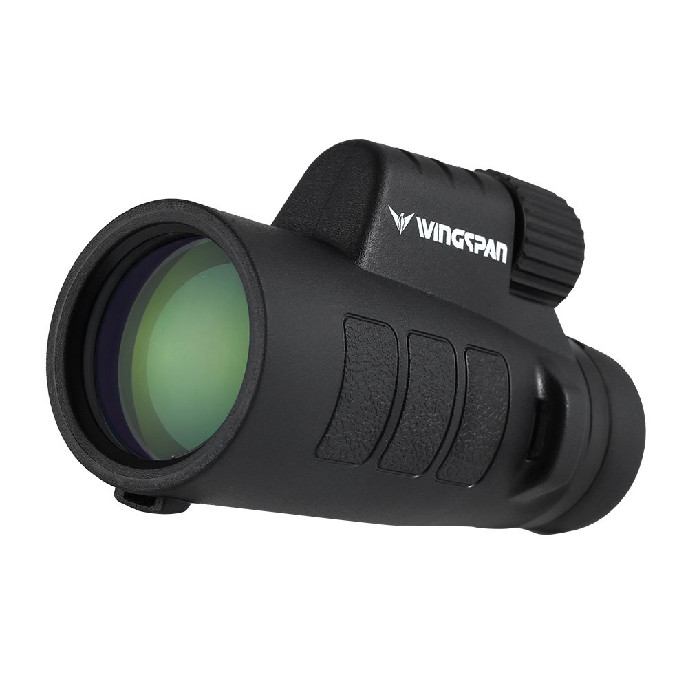 Wingspan Optics ProSpotter 10X42 Compact Monocular Scope. New Advanced PrismView Optics Creates Spectacularly Crisp, Brilliant Viewing Experience. Compact and Lightweight. One Hand Focus. Waterproof.