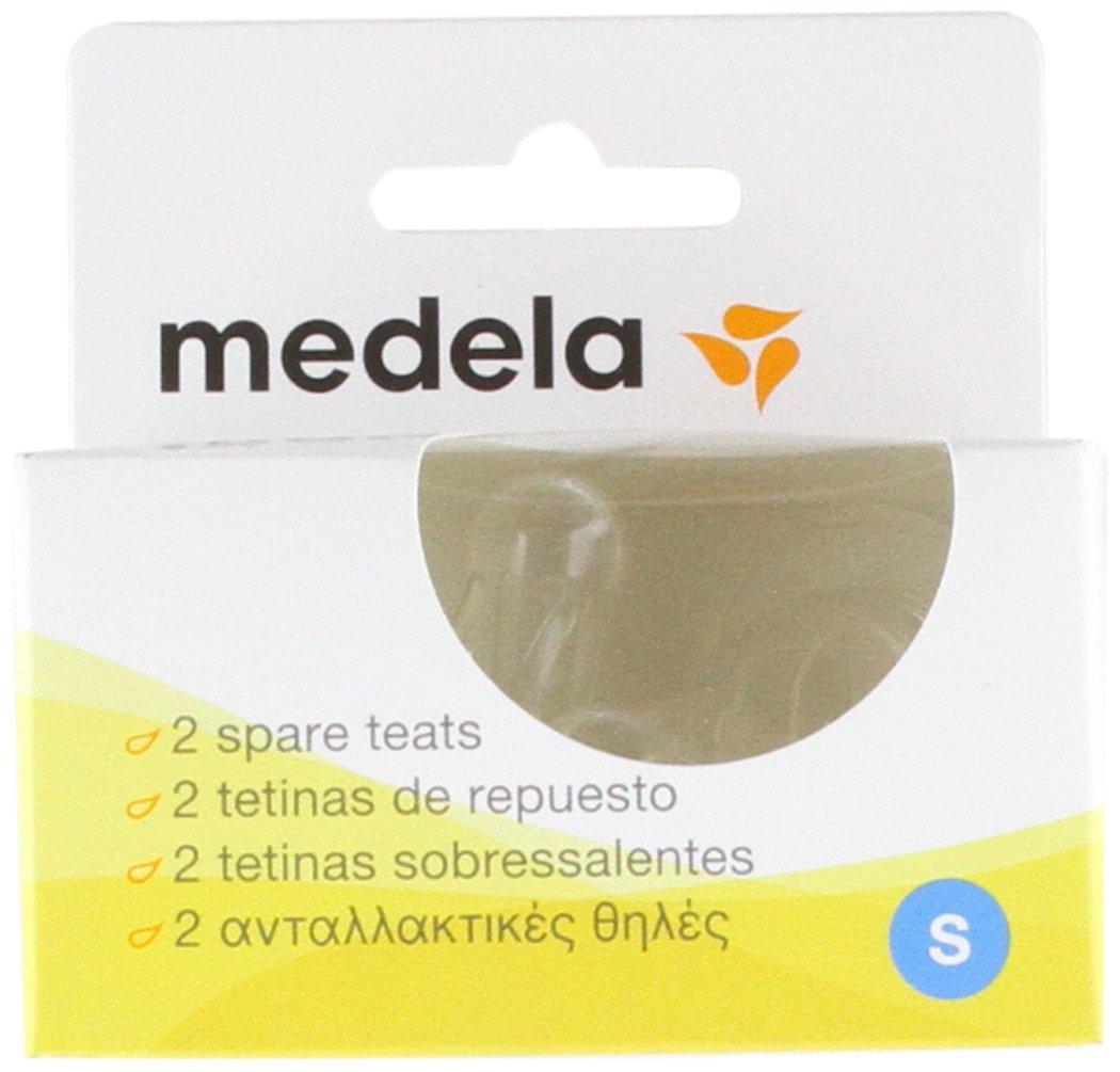 Medela Slow Flow Silicone Teats for Breastmilk Bottle Feeding (2-Pack) 200.0602