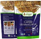 Alligga Ground Flaxseed Organic, Nutty, 500 g