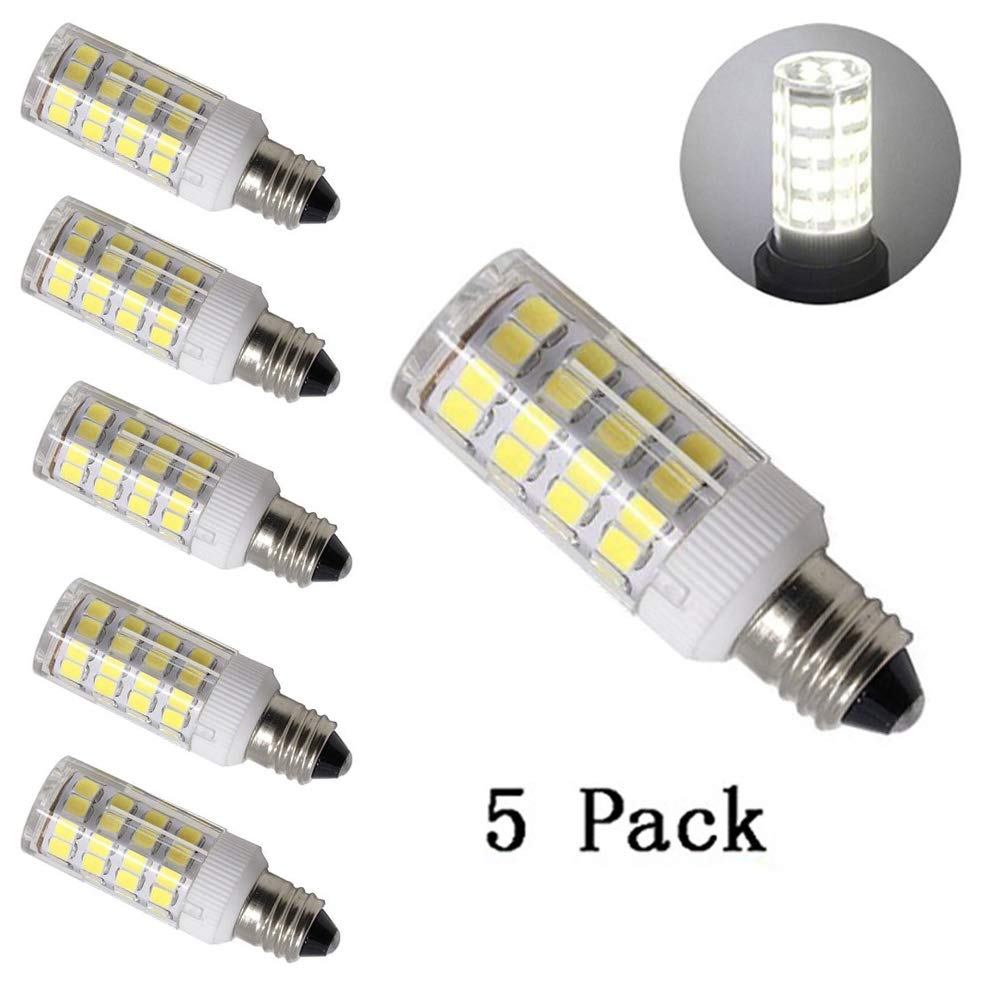 LED e11調光機能付き電球ミニ燭台ベースt4 JD 120 V e11 LEDハロゲン交換用バルブ、4.5、40 W相当( 5パック) led e11 B07BX8SJC7 デイライト