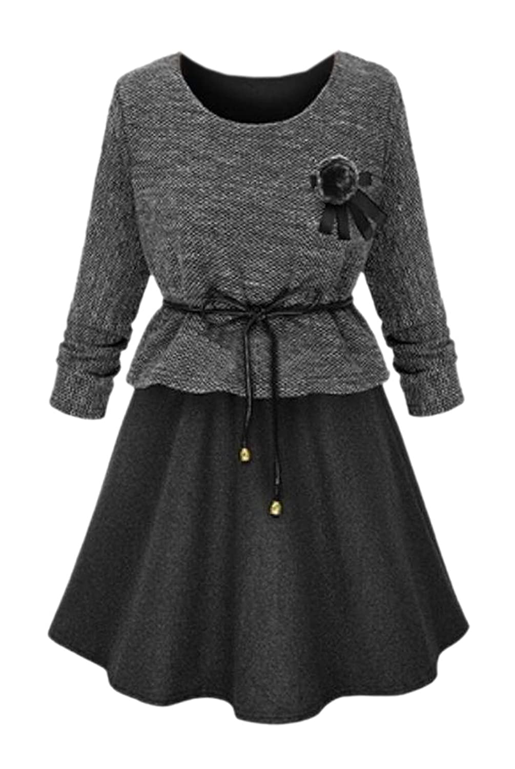 Honey GD Women's Daily Casual Long Sleeve Pullover Dress Tops