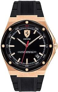 ساعة كوارتز عرض انالوج وسوار من السيليكون للرجال من فيراري 830553