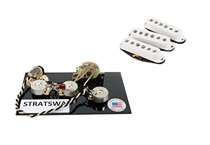 Fender Vintage Noiseless Stratocaster Pickups Set Amazon Com >> Fender Custom Shop 69 Stratocaster Pickup Set Plus 5 Way Wiring Harness