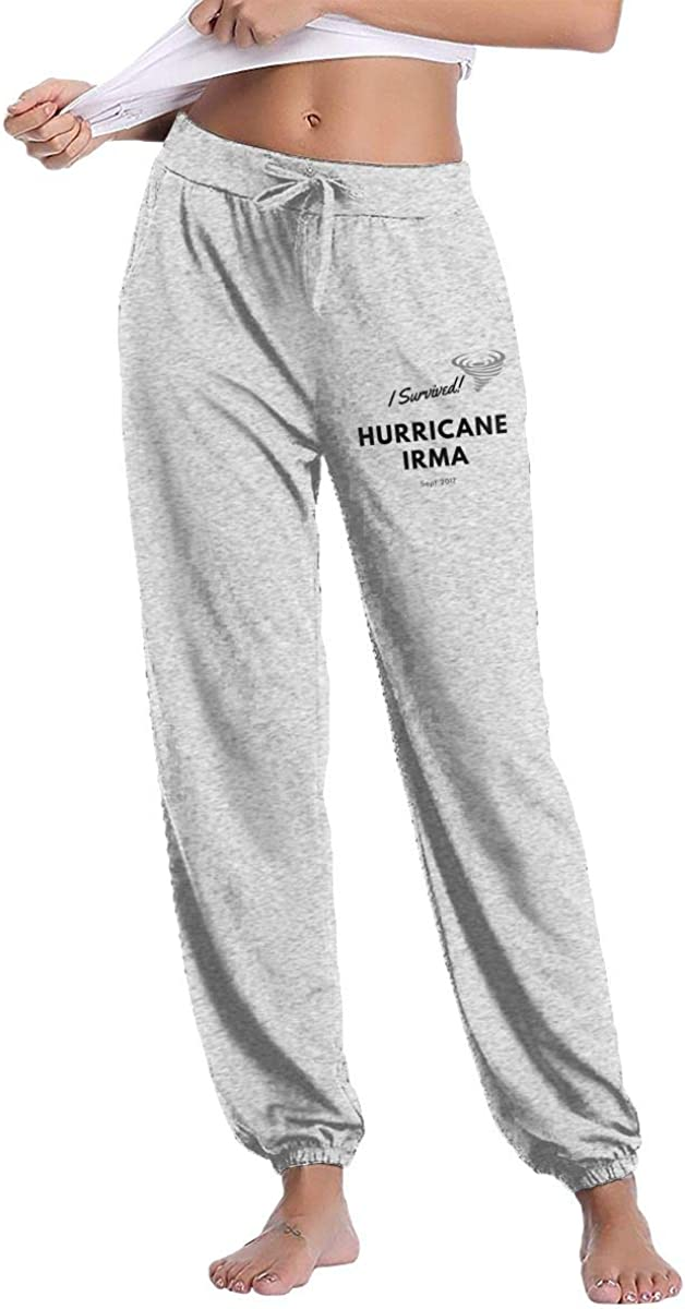 I Survived Hurricane Irma Women's Casual Sweatpants Sport Pants