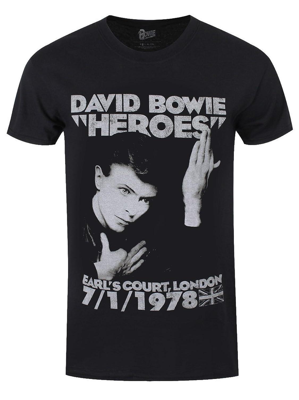 David Bowie デビッドボウイ Heroes Earls Court 78 ヒーローアールズコート78 公式 メンズ ブラック Tシャツ 全サイズ B01D6PNHFU  ブラック 4L