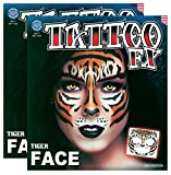 Tribal Tiger Temporary Face Tattoo Kit - Set of 2 Complete Kits
