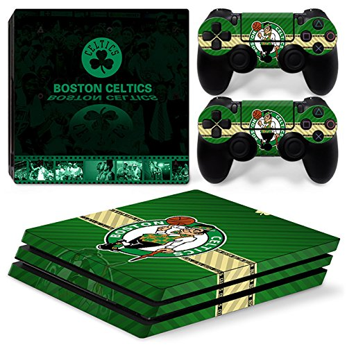 Video Game Accessories Playstation 4 Pro Nba Skin Sticker For Ps4 Pro Boston Celtics Basketball