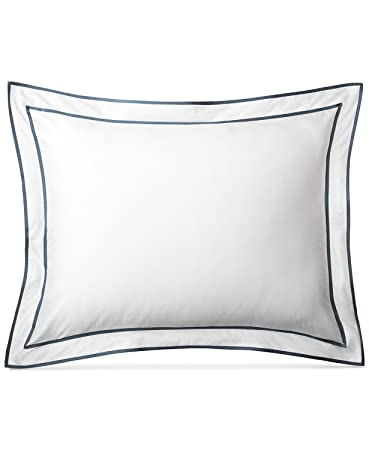 a194e039 Amazon.com: RALPH LAUREN King Sham Spencer Sateen Border White/King ...