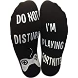 Do Not Disturb I'm Playing Game Funny Cotton Socks Valentine's Day Gift for Boyfriend Lover