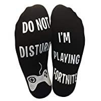 Do Not Disturb I'm Playing Fortnite Funny Cotton Socks for boyfriend Lover