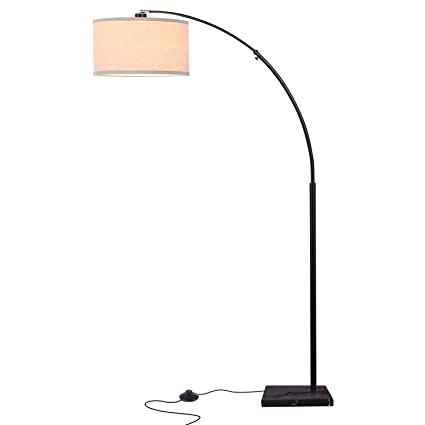 Brightech logan led arc floor lamp with marble base alexa google brightech logan led arc floor lamp with marble base alexa google smart home aloadofball Images