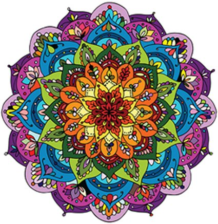 Pretty Rainbow Mandala Flower Vinyl Decal Sticker (4