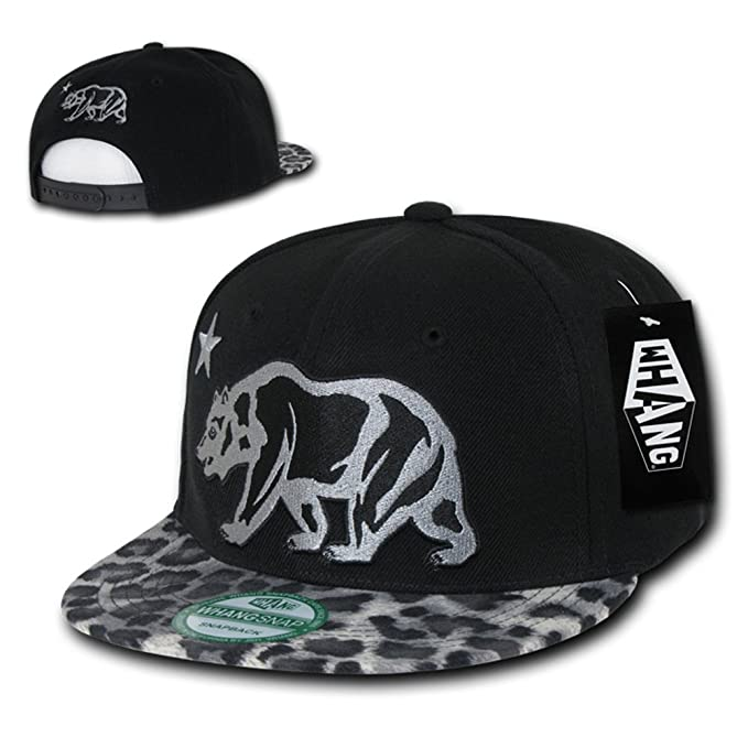 Giant CALI Grizzly Bear Animal Print Snapback by WHANG (Leopard 2 ... 78300fc6cb0