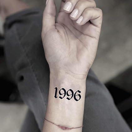 Tatuaje Temporal de Numero 1996 (2 Piezas) - www.ohmytat.com ...