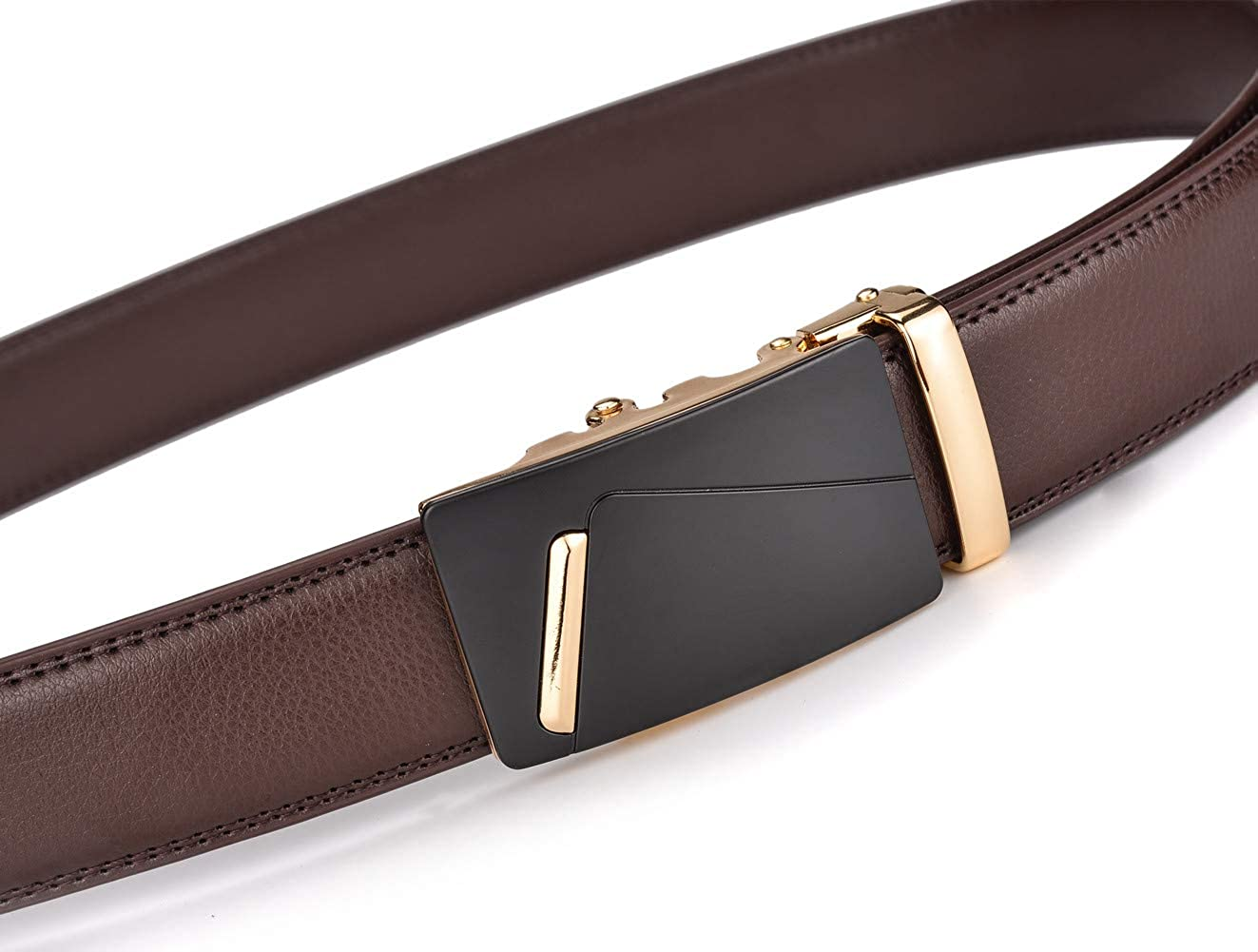 Slide Belt for men 1 3//8 inches Wide X XHtang Mens Ratchet Belt with Genuine Leather
