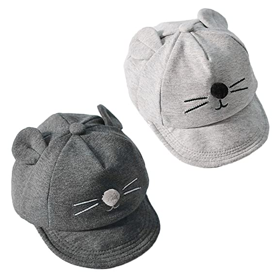 efd9bbb65 Ownsig Baby Baseball Cap Cartoon Cat Sun Hat Flat-Brimmed for Boy and Girl  Cool