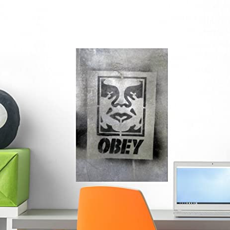 Amazon.com: Obey Graffitistreet Art Wall Mural by Wallmonkeys Peel ...
